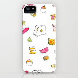 Breakfast of champions iPhone Case