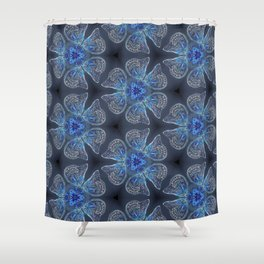 Shining Blue Butterflies Shower Curtain