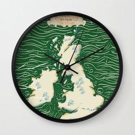 Vintage Victorian British Isles Map Wall Clock