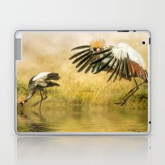 Great Crested Cranes Laptop & iPad Skin