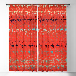 African American Masterpiece Alma Thomas, Red Sunset, Old Pond Concerto Blackout Curtain