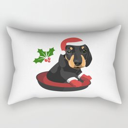 Puppy Christmas Rectangular Pillow