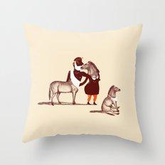 Horsies Throw Pillow