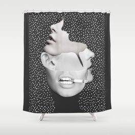 collage art / Faces 2 Shower Curtain