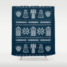 Who's Sweater Shower Curtain