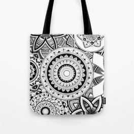 Mandalas in a lace Tote Bag