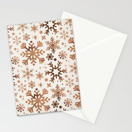 Snowflake Collection – Rose Gold Palette Stationery Cards