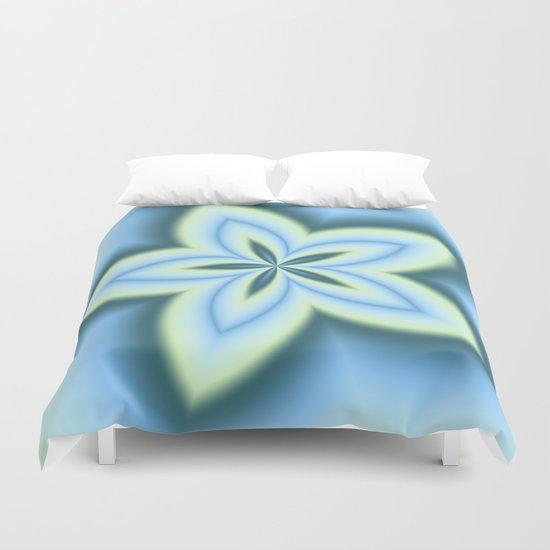 String Art Flower in MWY 01 Duvet Cover