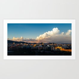 Clouds over Barcelona Art Print
