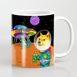 Shibe Doge Astro and the Aliens Memes Cats Cartoon Coffee Mug