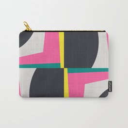 Modern Geometric 65 Pink Carry-All Pouch