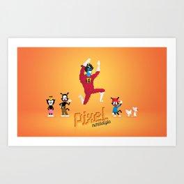 WB Pixel Nostalgia Art Print