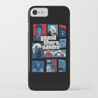 gta iPhone & iPod Cases featuring Doctor Who and GTA - Nerd Mix by MarcoMellark