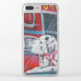 Fire Station Dalmation Clear iPhone Case