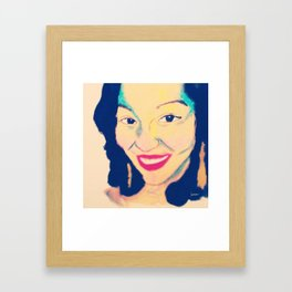 Mia #facesilove Framed Art Print