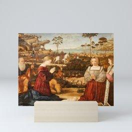 Vittore Carpaccio - Holy Family and donors Mini Art Print