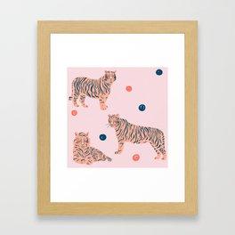 Pink Tiger Framed Art Print