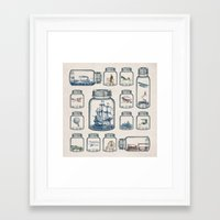 karen Framed Art Prints featuring Vintage Preservation by Paula Belle Flores