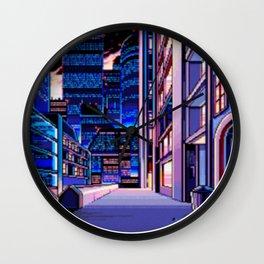 Pixel City Wall Clock