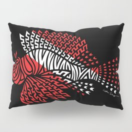 Tribal Scuba Flag Lionfish Pillow Sham
