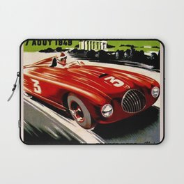 Vintage 1949 Le Comminges Grand Prix Racing Saint Gaudens Wall Art Laptop Sleeve