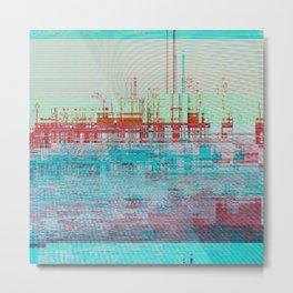 Glitch Pier Metal Print