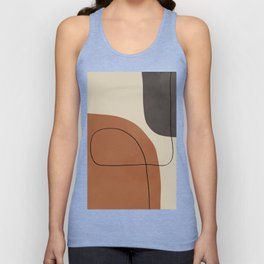 Modern Abstract Shapes #1 Unisex Tank Top
