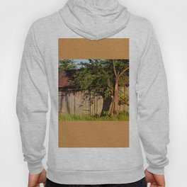 Abandoned old wooden shack Hoody