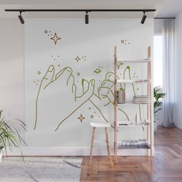 Pinky Promise Concept Wall Mural