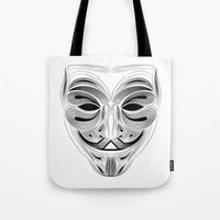 anonymous Tote Bags featuring Anonymous by Tuyệt Duyệt