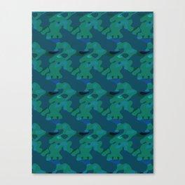 Elephant Walk Canvas Print
