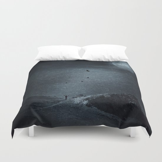 edge of always - dark blue Duvet Cover