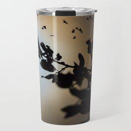 Bats in a Full Moon on Halloween Travel Mug