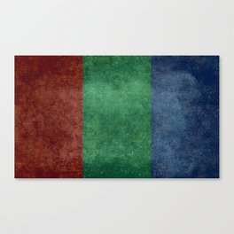 The flag of the planet Mars Canvas Print