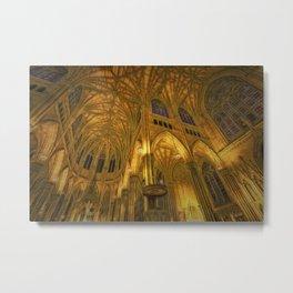 Golden Light Cathedral Metal Print