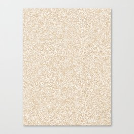 Spacey Melange - White and Tan Brown Canvas Print