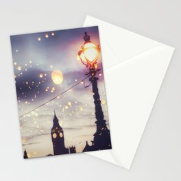 London Lights and Big Ben Stationery Cards