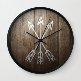3 Cross Arrows Wall Clock