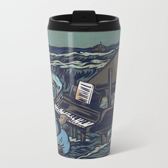 Symphony Of The Rising Tide Metal Travel Mug