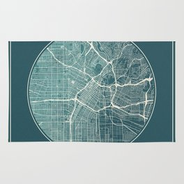 Los Angeles Map Planet Rug