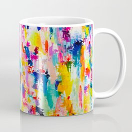 Bright Colorful Abstract Painting in Neons and Pastels Coffee Mug