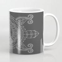 tortoise Mugs featuring Pattern Tortoise  by Adil Siddiqui