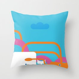Seamonsters Throw Pillow