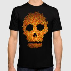 Candy Corn Skull LARGE Black Mens Fitted Tee