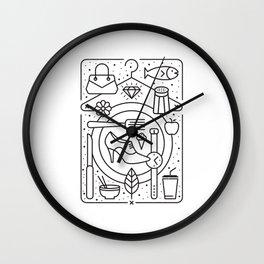 Food and Fashion Wall Clock
