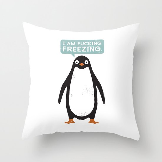 Talking Penguin Throw Pillow