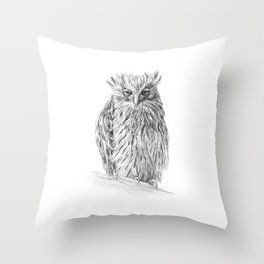 The Buffy Fish Owl Throw Pillow