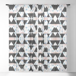 multicolor southwest geo pattern Sheer Curtain