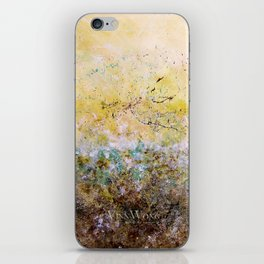 Abstract Art - First Bloom iPhone Skin