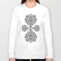 folk Long Sleeve T-shirts featuring Folk heart by Dávid Kurňavka